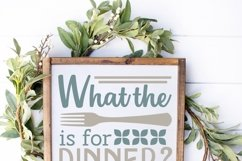 What the fork is for dinner SVG, funny kitchen Product Image 2