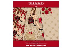 Christmas Digital Paper Pack Fashion Clipart Fashion Blogger Product Image 2