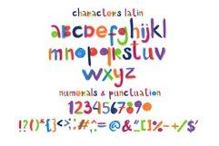 """Little monster"" bitmap color font Product Image 2"