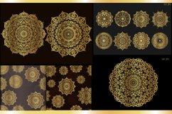 Set of gold mandalas. Lace pattern. Product Image 1