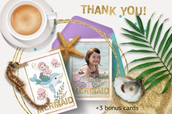MERMAIDS Sea Tropical Color Vector Illustration Set Product Image 6
