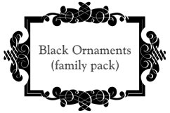 Black Ornaments (FAMILY PACK) Product Image 1