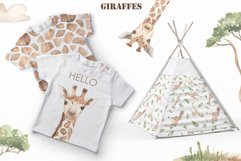 Giraffes. Watercolor collection Product Image 11