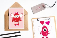 Valentine Monsters graphics and illustrations Product Image 4