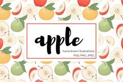 Apple hand drawn clip art Product Image 1
