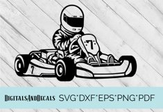 Go Karting SVG Cutting File  Product Image 1