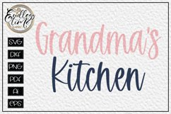 Grandma's Kitchen SVG - A Kitchen Sign SVG Design Product Image 1