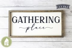 Gathering Place SVG, Fall SVG, Thanksgiving SVG Product Image 1
