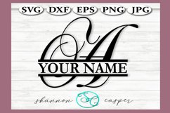 SVG Split Monogram Letter A Single Letter File Product Image 1