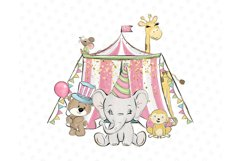 Circus clip art, Carneval illustrations, animal circus image Product Image 5