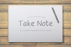 Take Note - A Casual Handwritten Font Product Image 1