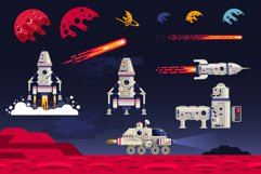 Space Flat Illustration Product Image 5