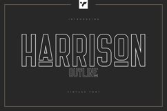 Harrison - Outline Font Product Image 1