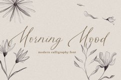 Morning Mood, calligraphy hand written font Product Image 1