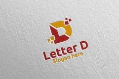 Digital Letter D Logo Design 11 Product Image 1