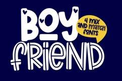 Boyfriend - A Mix & Match Font Quad Product Image 1