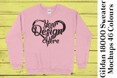 Gildan Sweatshirt Mockup 18000 Mock Up Black White Grey 943 Product Image 3
