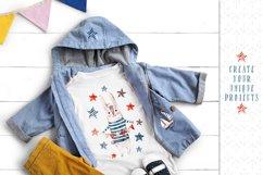 Cute Rabbit sailor. Kids watercolor sea clipart. Baby Bunny Product Image 6