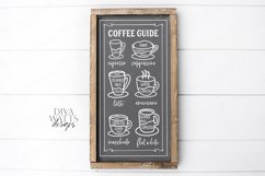 Coffee Bar - Guide Cheat Sheet - Farmhouse Kitchen Sign SVG Product Image 2