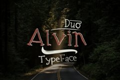 Alvin Duo - 5 Font styles and 150plus Swashes Product Image 2