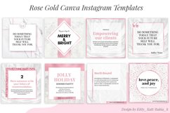 Rose Gold Canva Instagram Templates Product Image 2