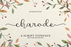Web Font Charode Product Image 1