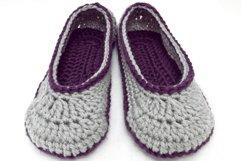 2 Hour Women's Slipper Crochet Pattern Product Image 1