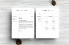 MS WORD Creative Resume Template CV Design Product Image 5