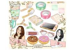 Planner Girl Clip Art/Planner Girl Clipart/planner girl Product Image 4