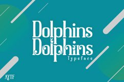 Dolphins Serif with Decorative Product Image 1
