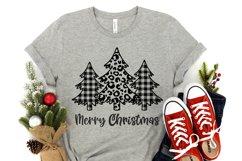 Buffalo plaid christmas tree svg Christmas designs Leopard Product Image 3