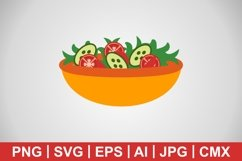 Vector Salad Icon Product Image 1