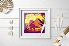 Layered papercut  paper cut Dinosaur papercut Product Image 2