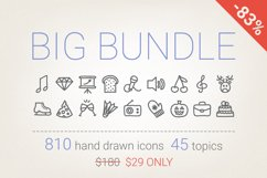 83 Off - Hand Drawn Icons Bundle Product Image 1