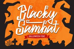 Blacky Sambat - Halloween Font Product Image 1