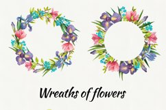 Watercolor flowers, clipart. Spring flowers Product Image 5