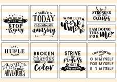 Motivational Quote SVG Cut Files Bundle Product Image 2