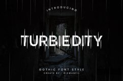 Turbiedity - Gothic Font Style Product Image 1