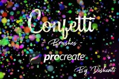 42 Confetti Brushes for Procreate 5 Product Image 1