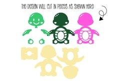 Turtle Easter egg holder design SVG / DXF / EPS Product Image 2