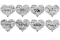 Family Hearts BUNDLE - Svg Cut Files Product Image 4