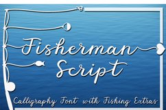 Fisherman Script - A Fun Script Font with Fishing Extras Product Image 10