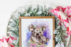 Floral Koala Baby and Mother Australian Animals Sublimation Product Image 5