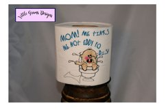 Baby Toilet Paper Embroidery Designs Boy Girl Product Image 3