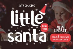 Little Santa Font | merry christmas font | 8 christmas cards Product Image 1