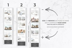 Email Templates for Canva & Mailchimp| White Linen| 3 Pack Product Image 4