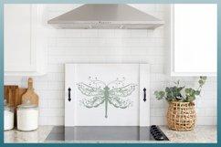 Beautiful Intricate Dragonfly Mandala Zentangle SVG Product Image 3