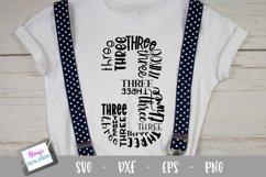 Number Bundle - 10 Milestone numbers - Word Art Product Image 4