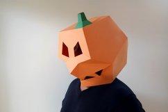 DIY Pumpkin Mask - 3d papercraft Product Image 5