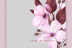Pink floral clipart, floral frames Product Image 4